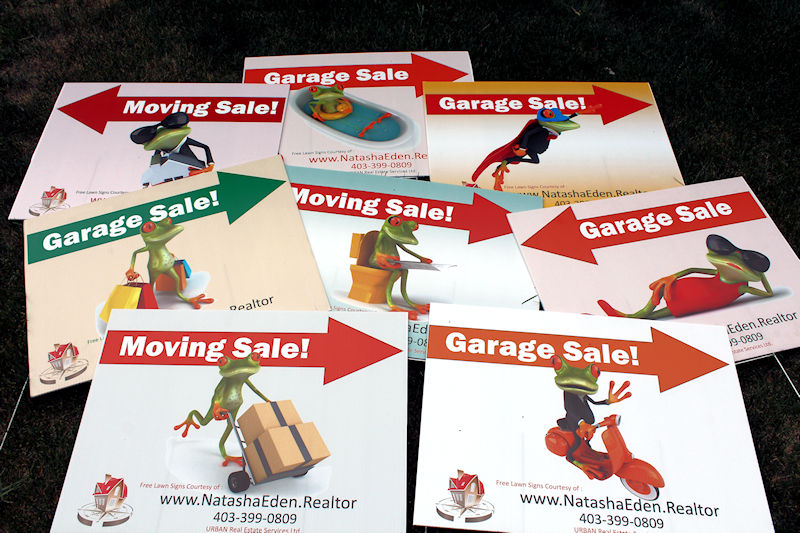 Chestermere Garage and Moving Sale Signs